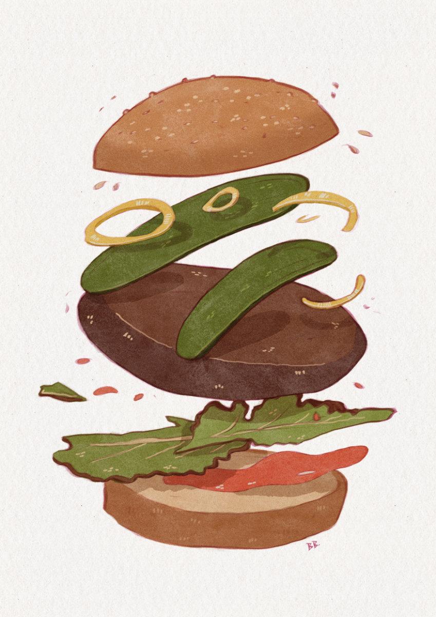Burger by Britta Berdin
