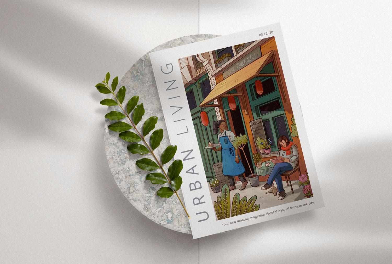 Magazine Cover featuring an illustration by Britta berdin